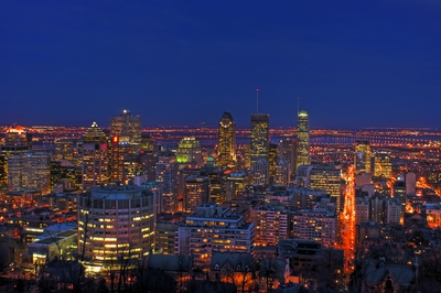 Mount Royal Lookout Night Montreal
