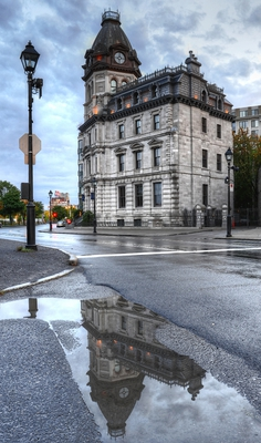 Old Port Rainy Day Montreal